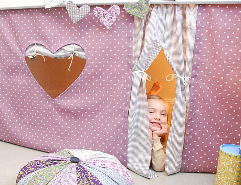 gardinen vorh nge hochbettvorhang f r das hochbett ein designerst ck von. Black Bedroom Furniture Sets. Home Design Ideas