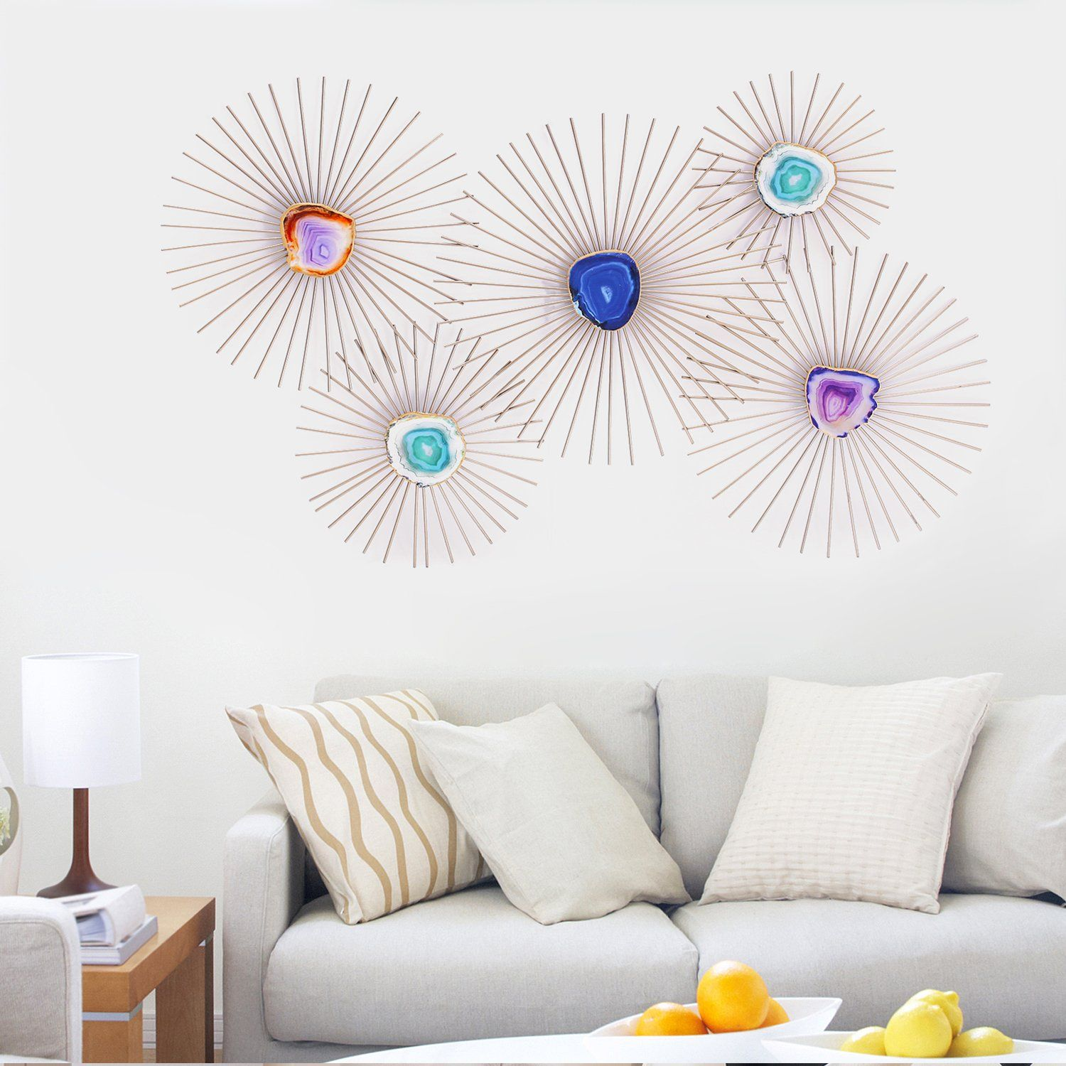 Asense Flower Starburst Metal Wall Art Sculptures Home Decor Life Decoration Wish To Know Extra Click On Th In 2020 Metal Sculpture Wall Art Metal Wall Art Wall Art