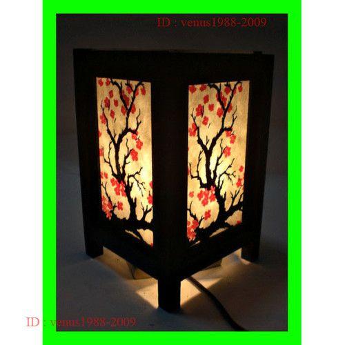 Asian Oriental Home Spa Garden Decor Bedside Table Lamp Cherry Blossom Tree LS6 | eBay