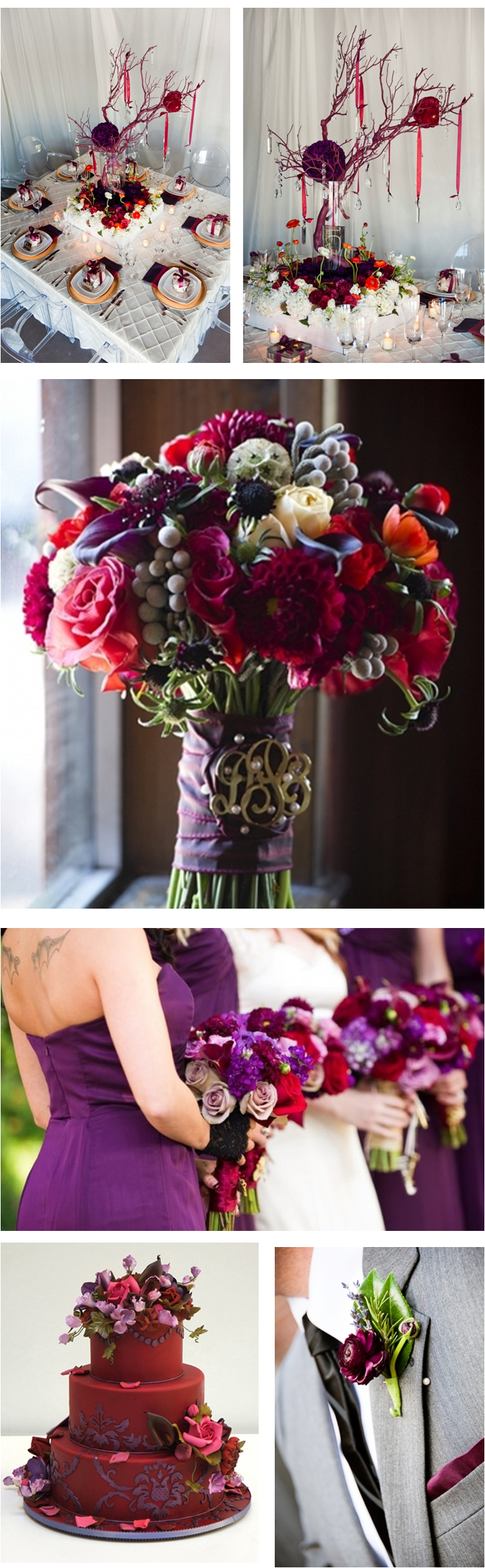 Wedding Bells Decorations Maroon Accents In Wedding Decorations #maroon #wedding  Shades Of