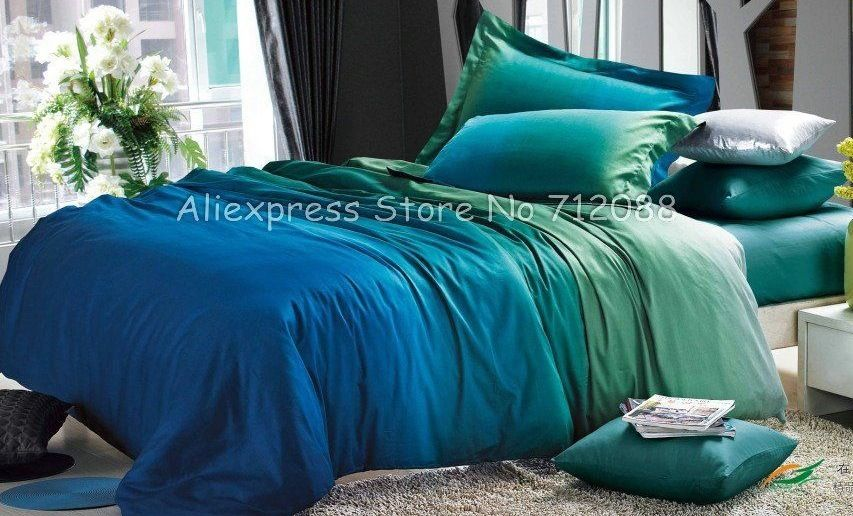 Photo Detail Of Peacock Blue Green Bedroom Premium Cotton