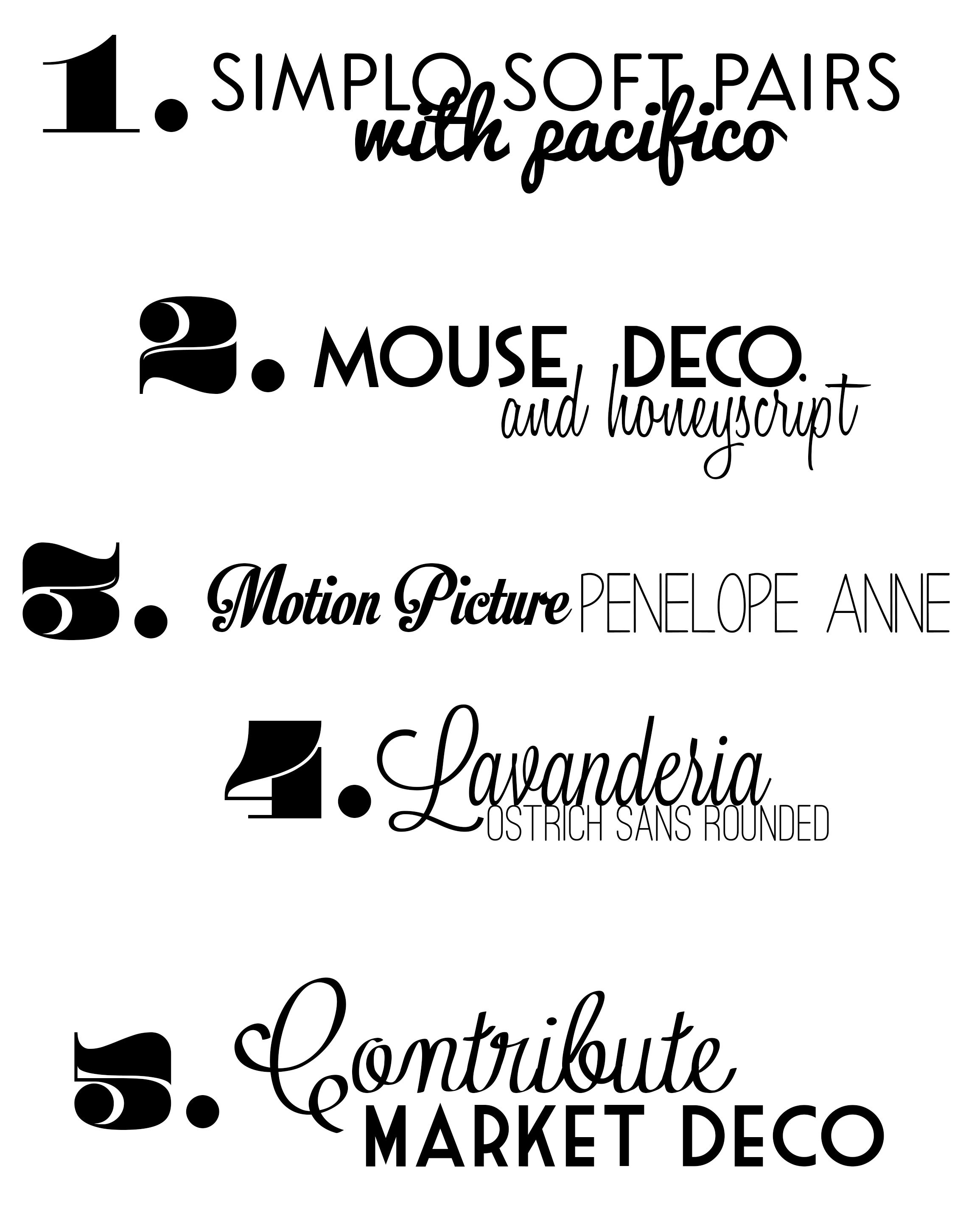 Favorite Free Font Combos