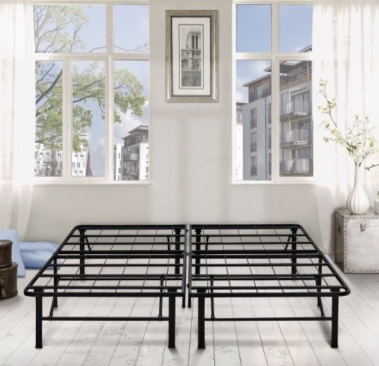 Black Metal Bed Frame King Size Platform High Base Under Storage Heavy Duty New Thomasjames Under Bed Storage Bed Frame Bed Storage