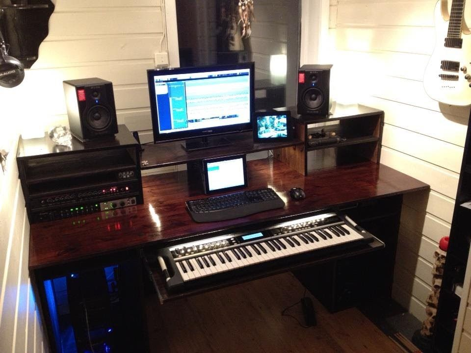 Wondrous My Build A Home Studio Recording Desk Result Workstation Largest Home Design Picture Inspirations Pitcheantrous
