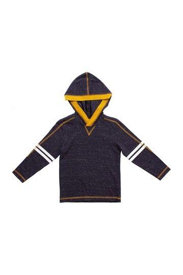 BEAR CAMP | Varsity Stripe Speckled Hooded Tee (Little Boys #nordstromrack
