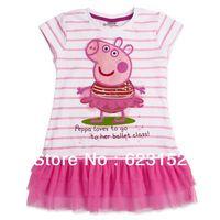 kids fashion shirt dress,peppa pig series