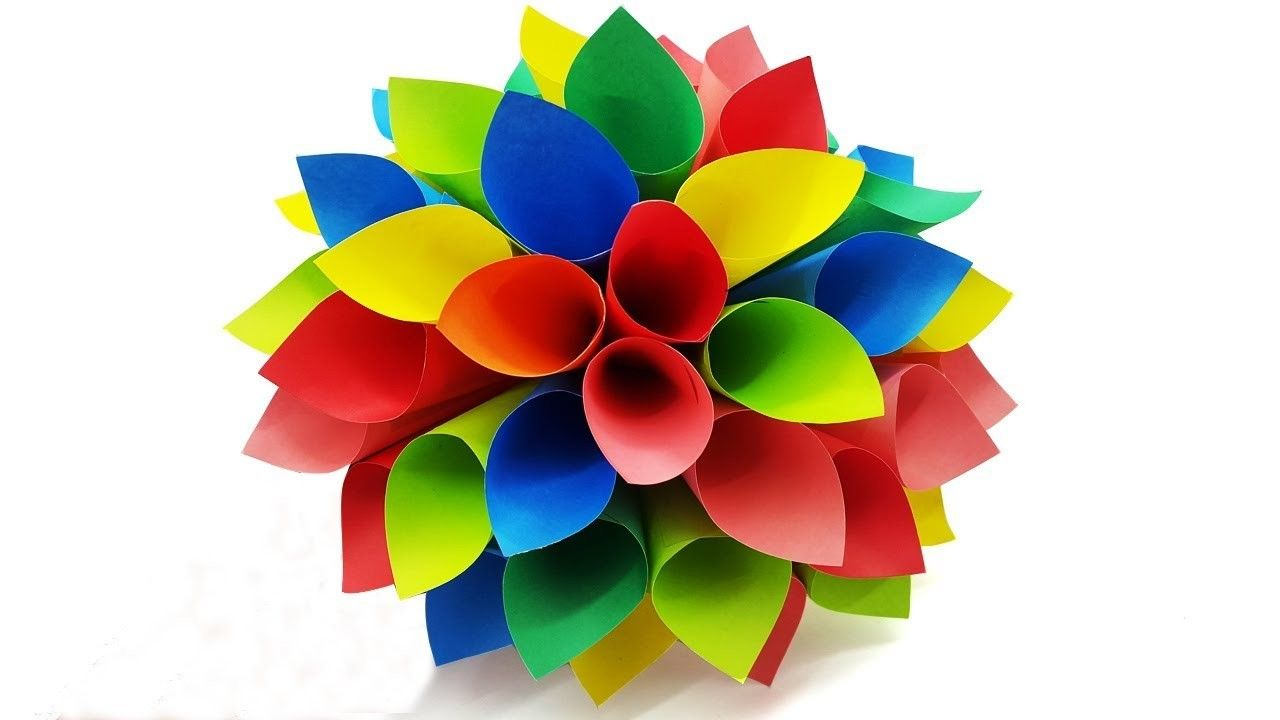How To Make A Paper Flower  DIY Simple Wall Decor  Room Decoration