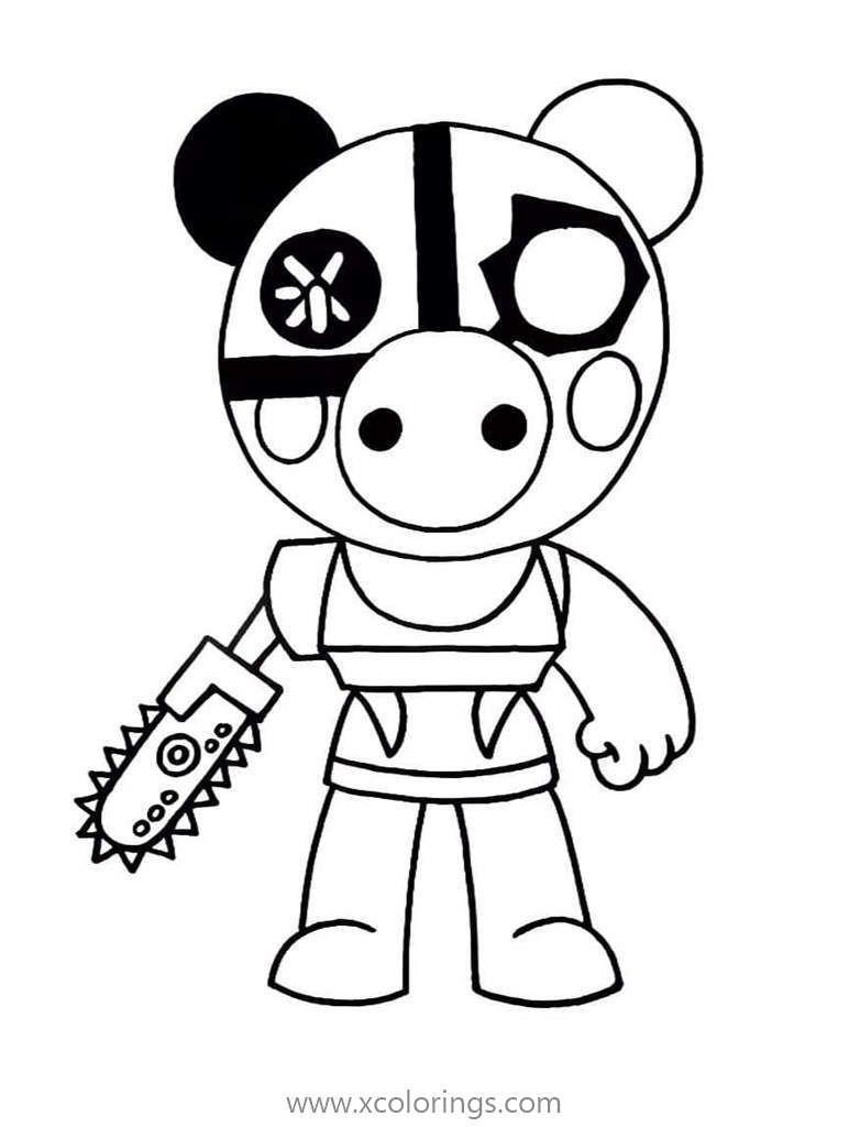 Robby From Piggy Roblox Coloring Pages Coloring Pages Pokemon Coloring Pages Detailed Coloring Pages