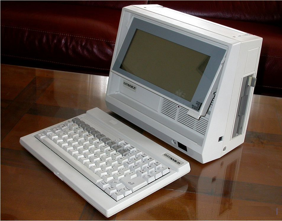 My First Portable Pc Datavue 25 Introduced In 1985 By