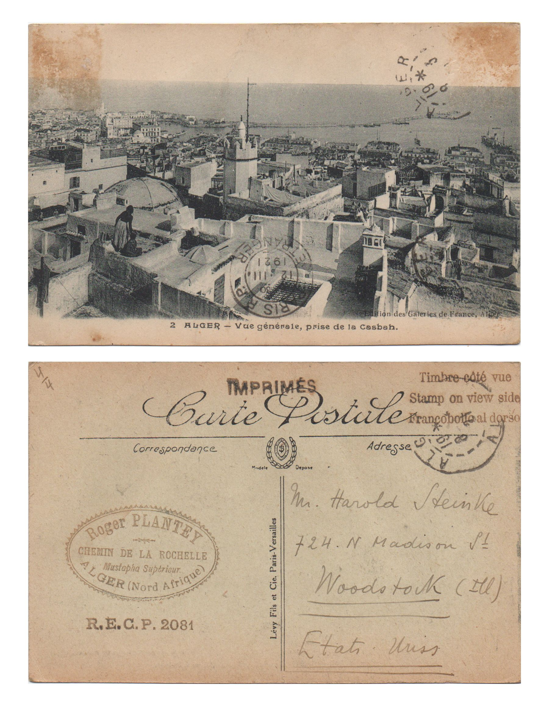 Arte France Adresse Algeria Postcardhappyhour My Great Grandfather S Postcard
