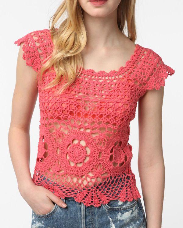 MyPicot   Free crochet patterns   Häkeloberteile   Pinterest ...
