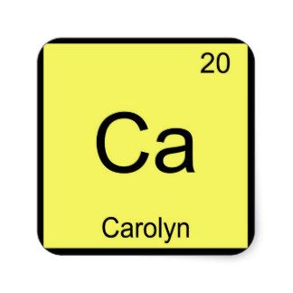 Carolyn name chemistry element periodic table stickers name carolyn name chemistry element periodic table stickers urtaz Image collections