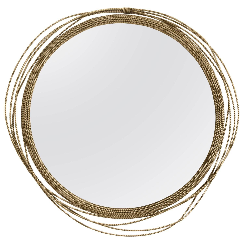 European Modern Brass Round Kayan Mirror by Brabbu | Vintage mirror wall,  Mirror wall, Mirror