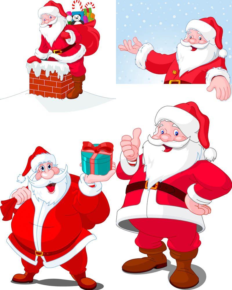 #Santa Claus #vector  Free Vector Graphic Resources  Pinterest  Cartoon, S...