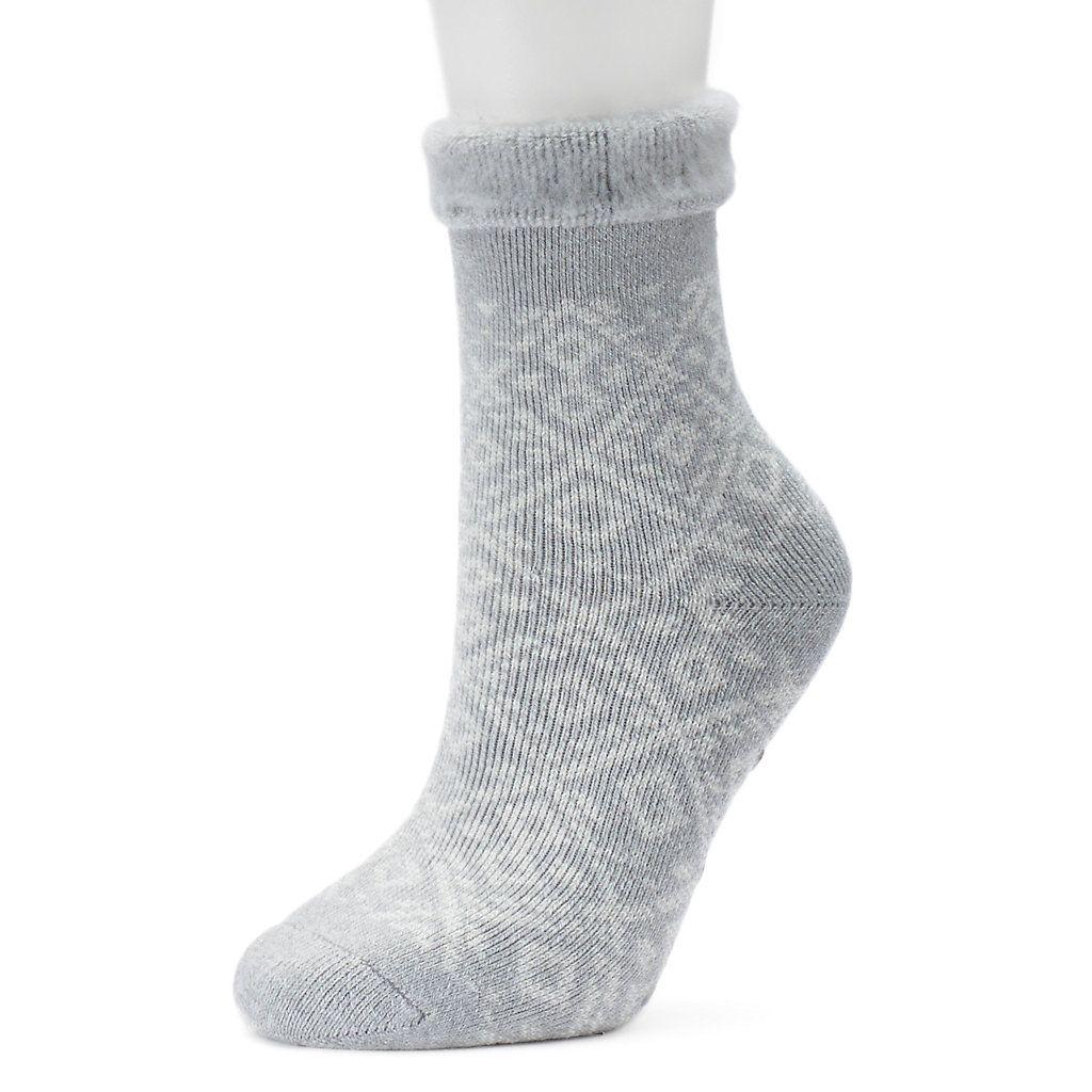 Fuzzy Patterned Gripper Slipper Socks
