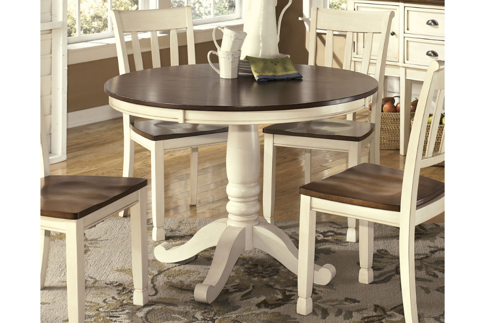 Whitesburg Dining Room Table With Images Round Dining Room Country Dining Rooms Dining Room Table