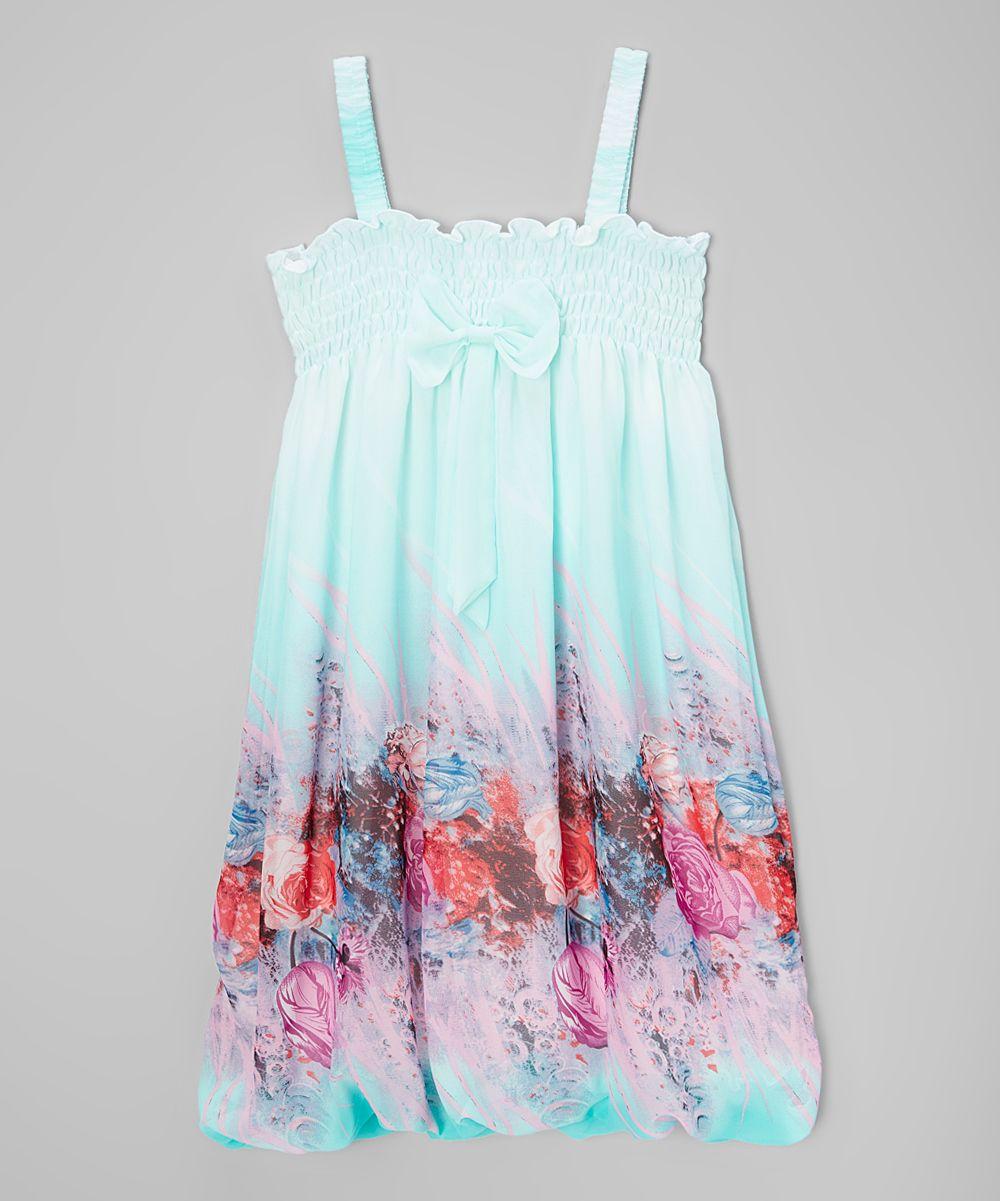 Baby blue floral babydoll dress infant toddler u girls products