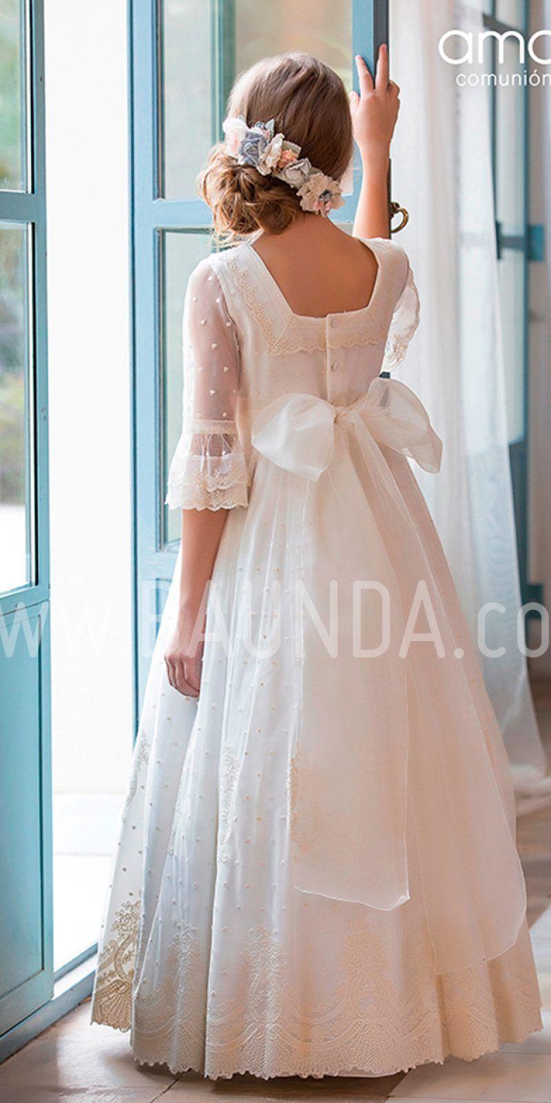 Vestidos comunion nina amaya 2019