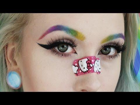 how to do rainbow eyebrows  eyebrows cosplay makeup