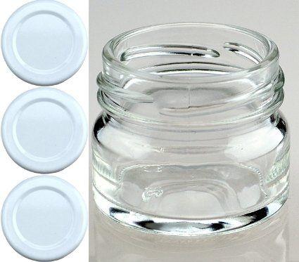 Gewürzgläser Leer 24 leere runde einmachgläser mini 30 ml incl drehverschluss