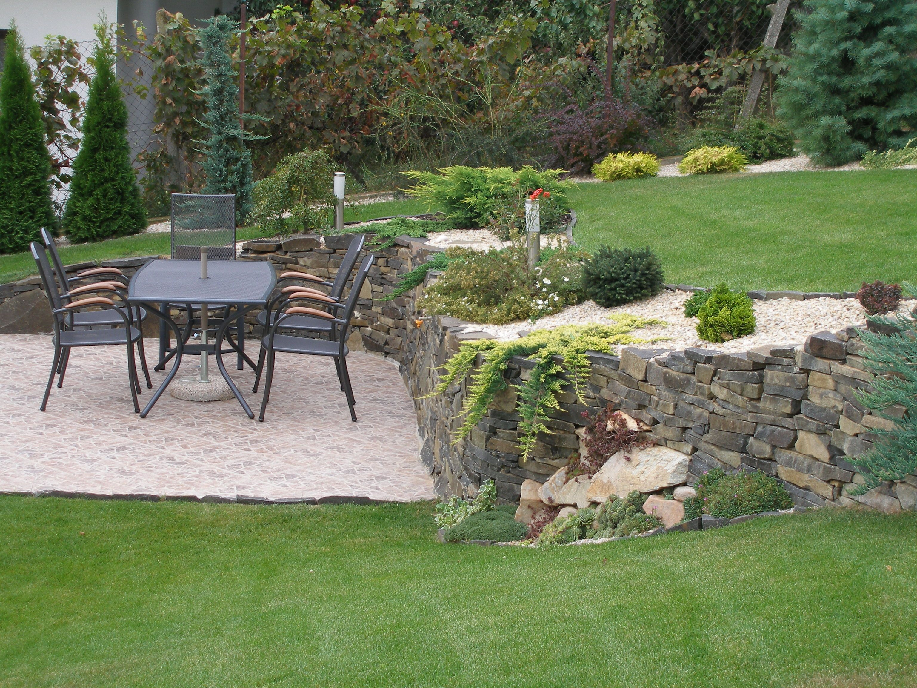 Kameň v záhrade | Rudbeckia