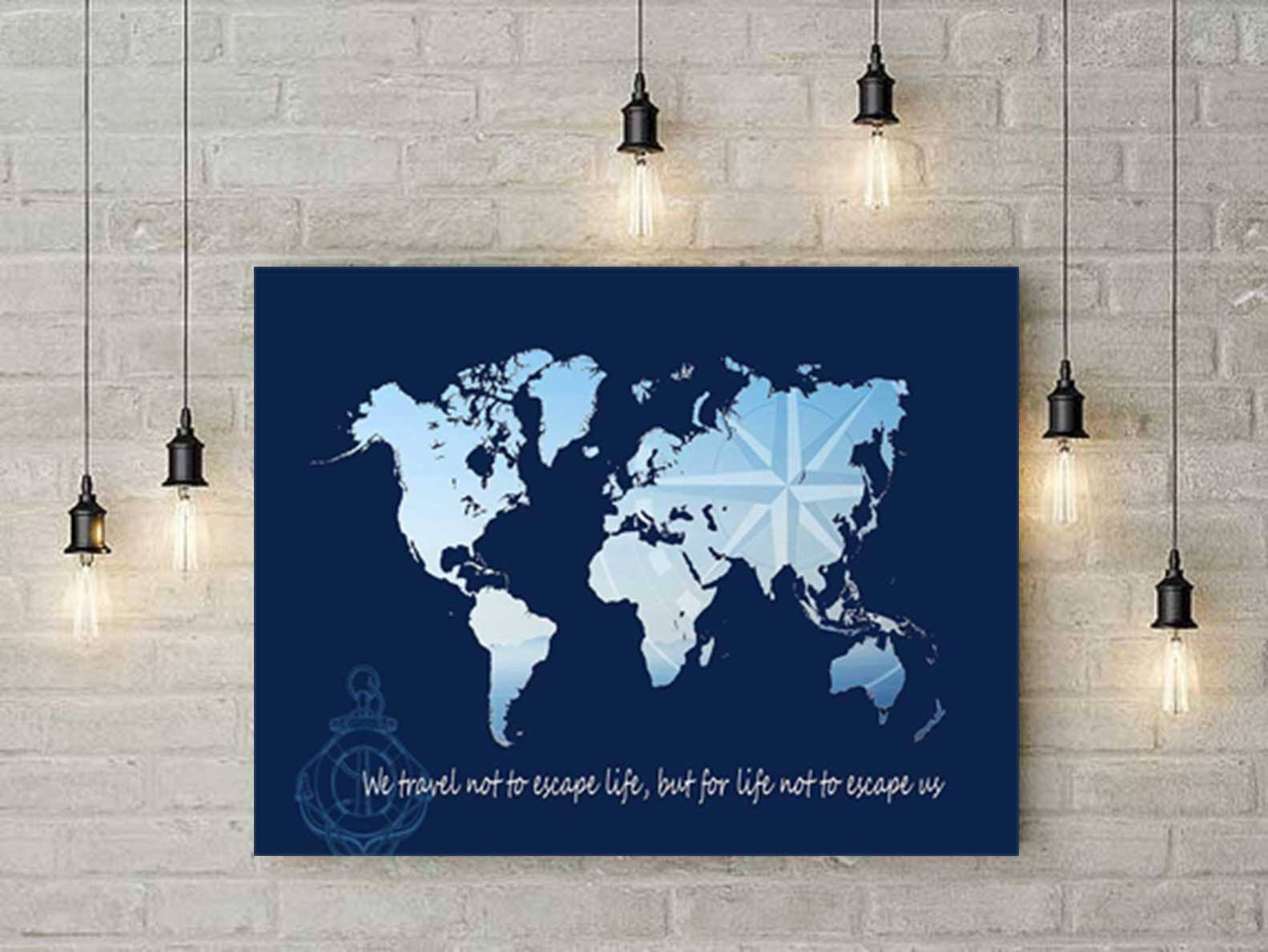 World map art map of the world world map poster inspiring quotes world map art map of the world world map poster inspiring quotes gumiabroncs Image collections