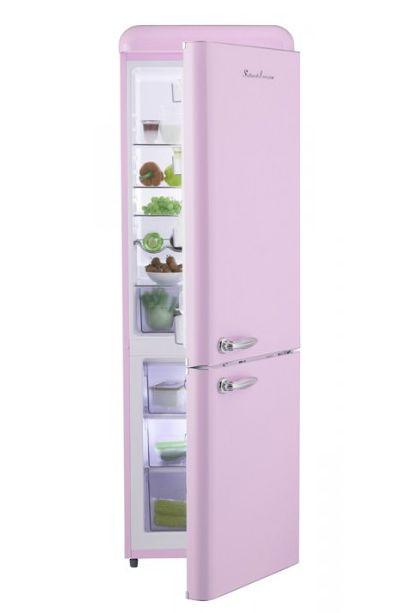 Freistehender Kühlschrank Im Rosa Retro Look Für Die Candy Küche