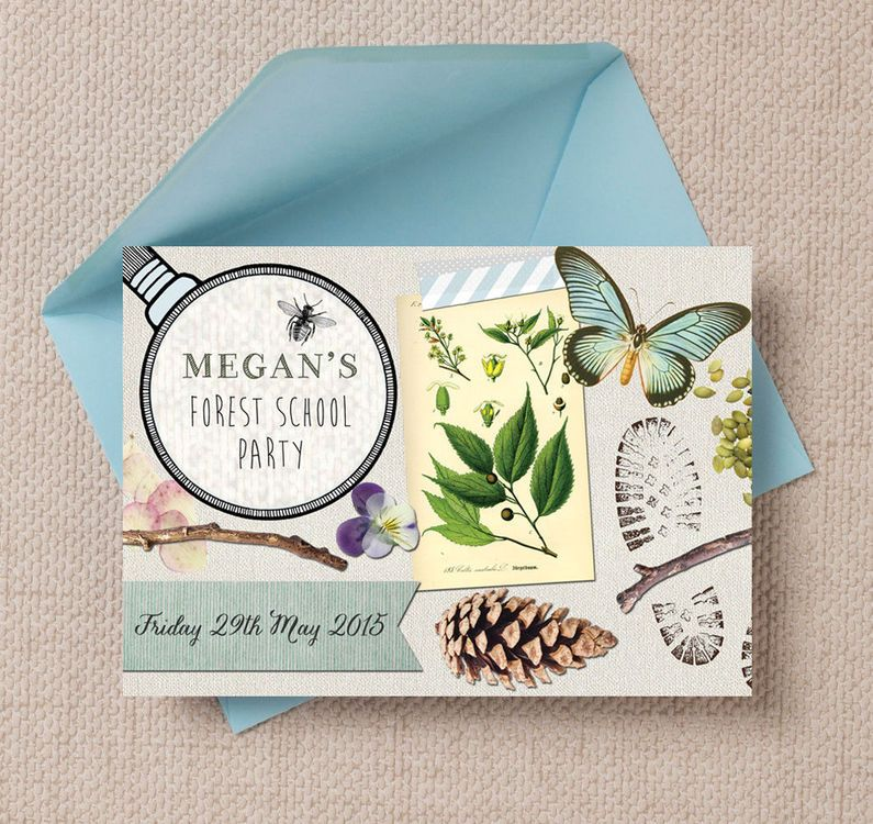 Forest School / Nature Trail Party Invitation | Forest school ...