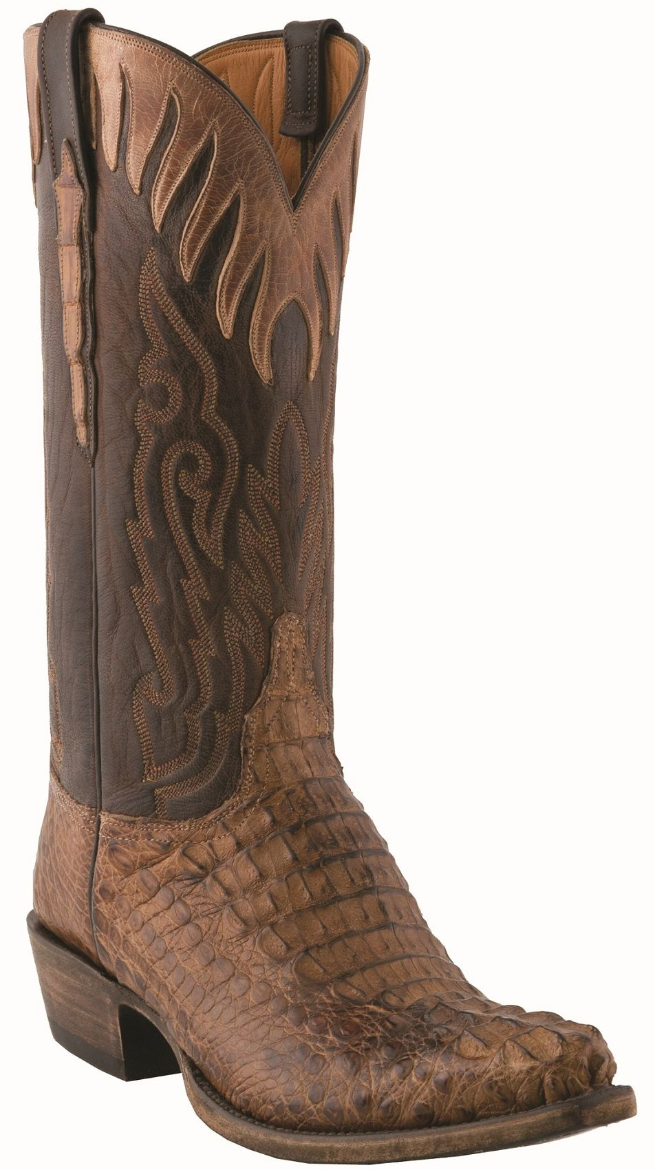 6eb74e40262 13  Men s Lucchese Classics Tan Burnished Hornback Caiman with ...