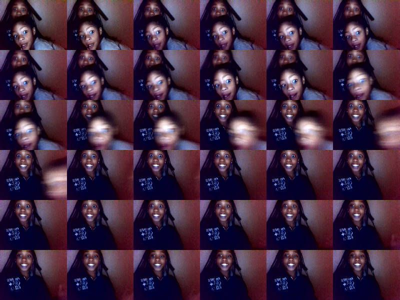 me and my lil god sis was being creative by using webcam toy love it yass