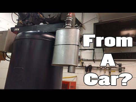 CAR MUFFLER + COMPRESSOR INTAKE = QUIET! YouTube Car