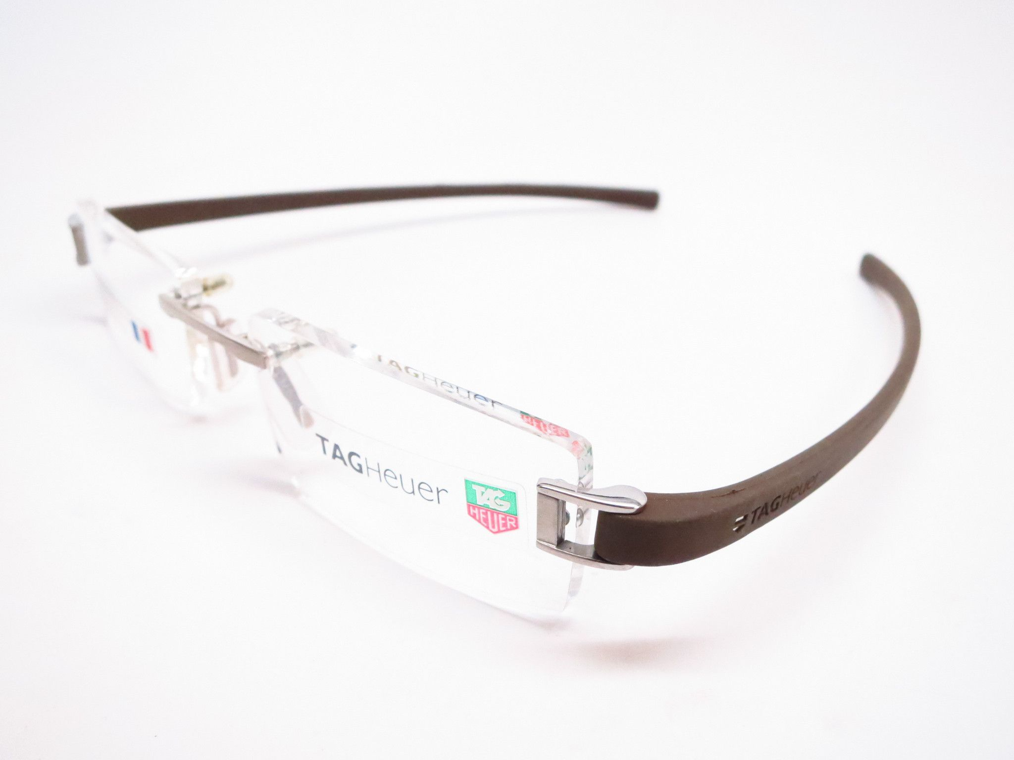 Tag Heuer TH 7505 202 Brown Rubber Eyeglasses | Tag Heuer Sunglasses ...