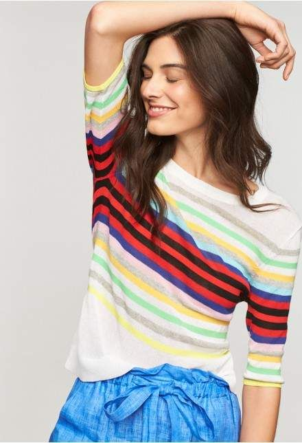 415f118a2 Milly Rainbow Stripe Pullover
