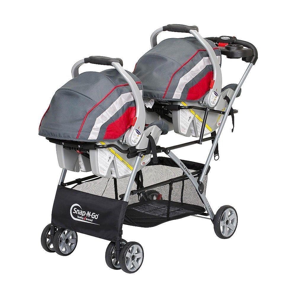 Baby Infant Newborn Double Twin Stroller Travel System Set