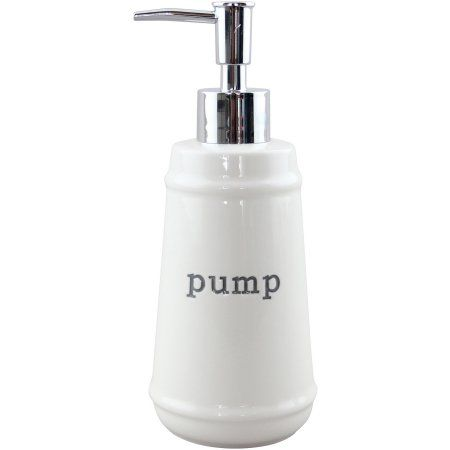 Better Homes And Garden Bathroom Accessories. Better Homes And Gardens Words Soap Pump White Walmart Com