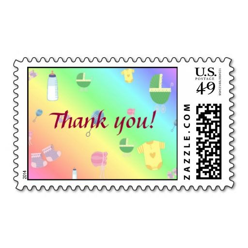 Baby Print Thank You Postage Baby Thank You Postage Stamps
