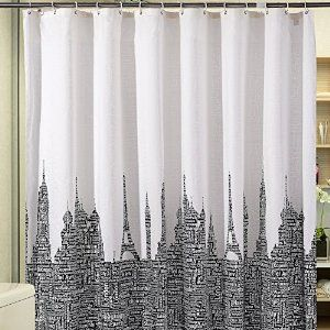 Absolutely Gorgeous Shower Curtain Themed For Cities Goes In Any