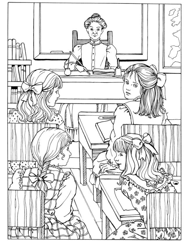 A Little Princess Coloring Book Dover Publications | Coloring the ...