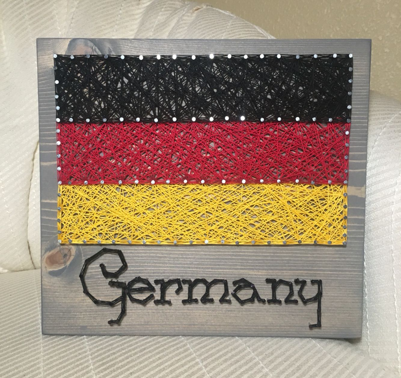 Germany Flag String Art, Country- order from KiwiStrings on Etsy ...