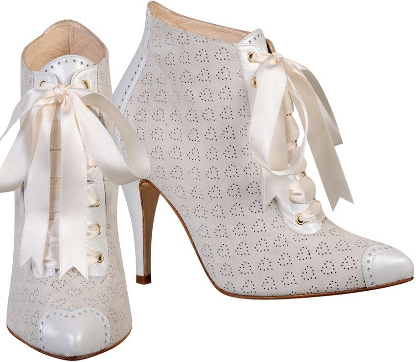 botines de novia modelo inessa de love art-wear art