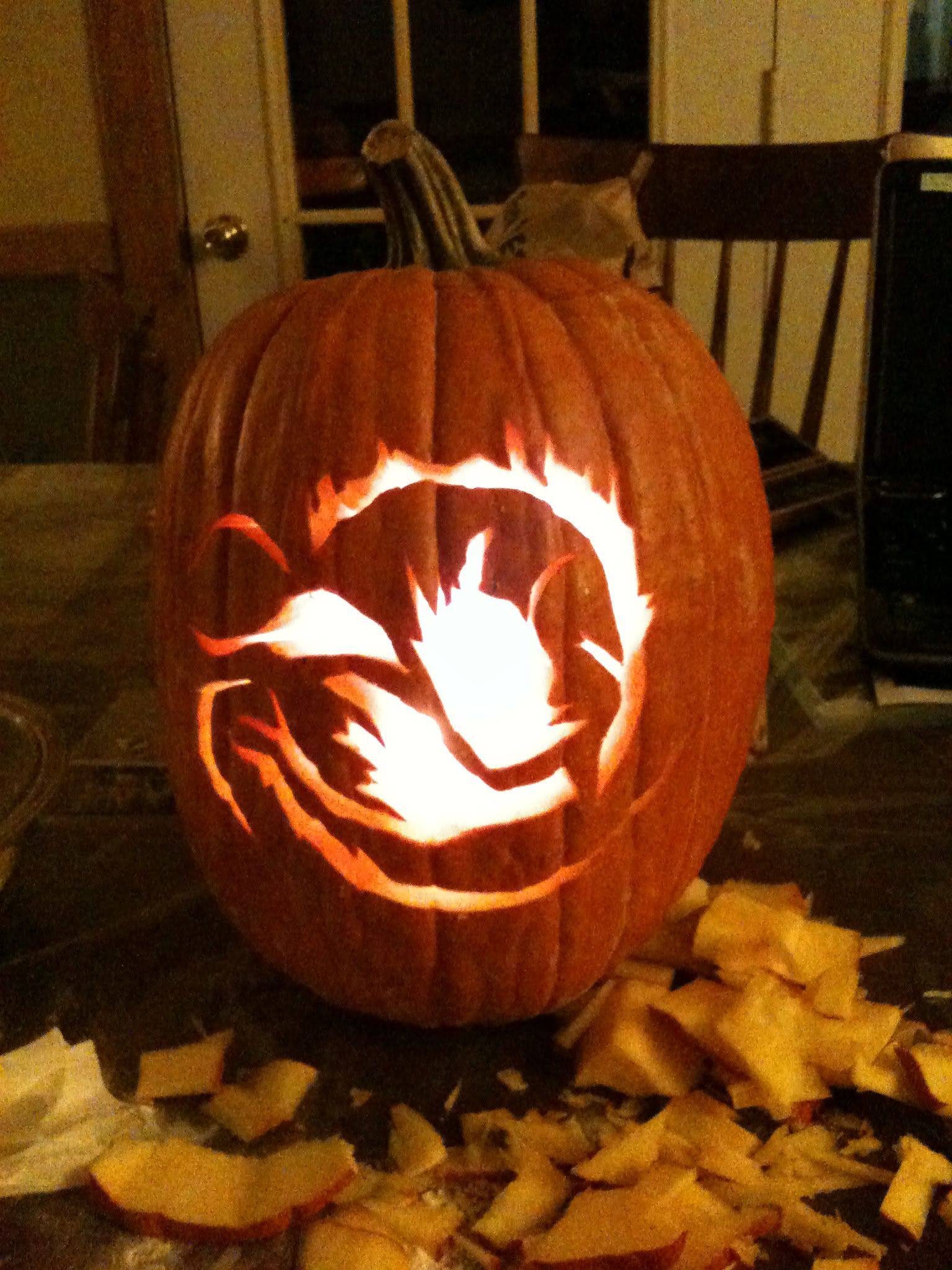 Pumpkin pattern for DIVERGENT by Veronica Roth. I want to know how to do that for Amity