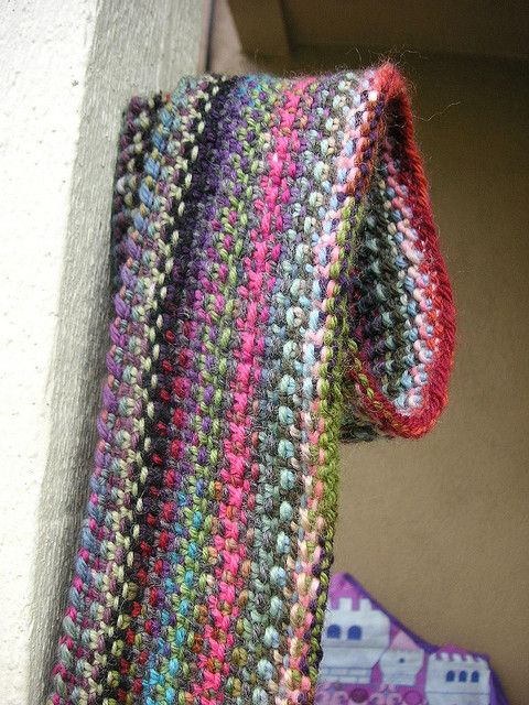 Scrappy Lengthwise Scarf pattern by Zona Sherman