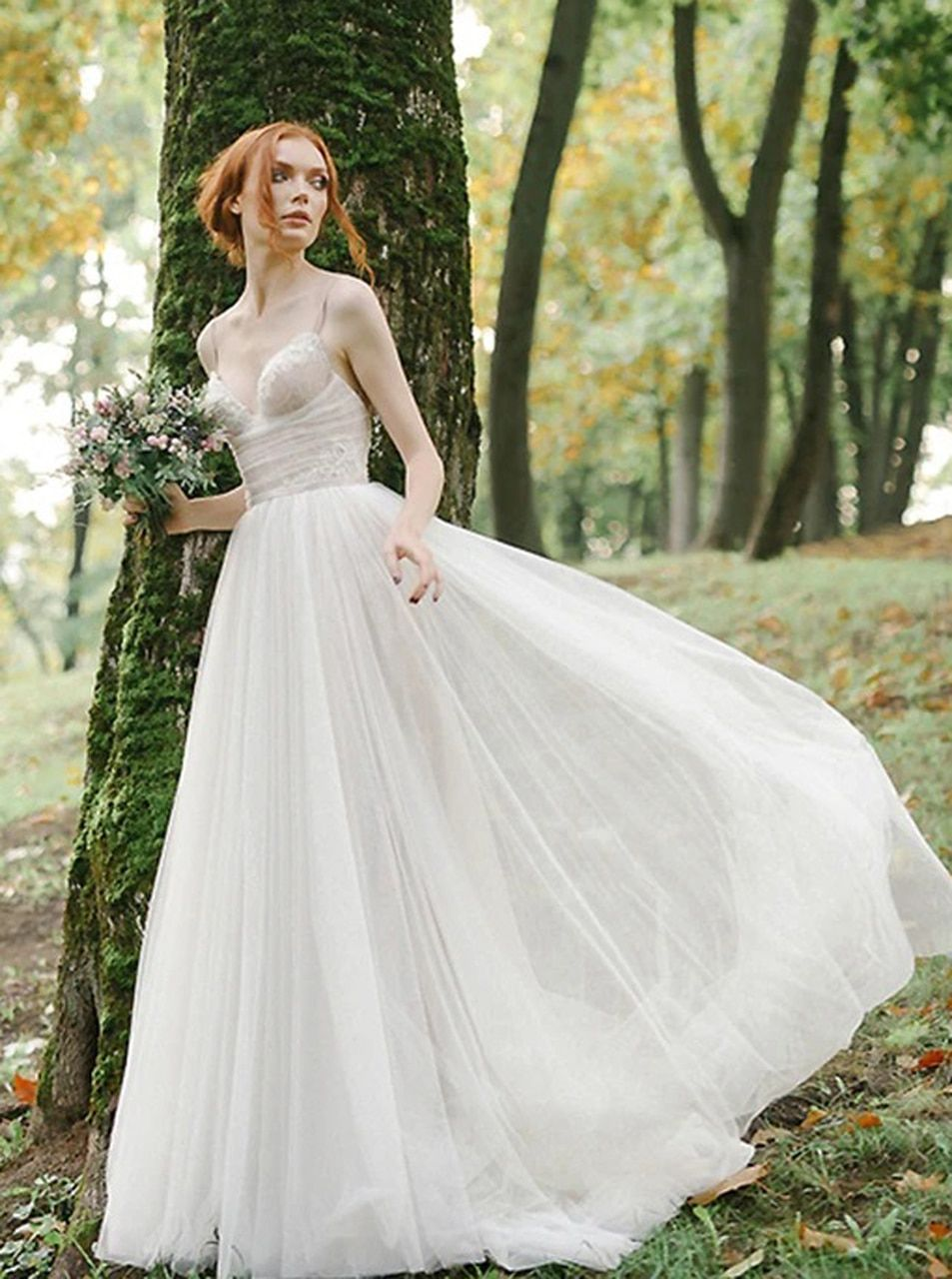 Simple Outdoor Wedding Dresses Tulle And Lace Garden Bridal Dress 12182 Bridal Dresses Outdoor Wedding Dress Wedding Dresses [ 1280 x 953 Pixel ]