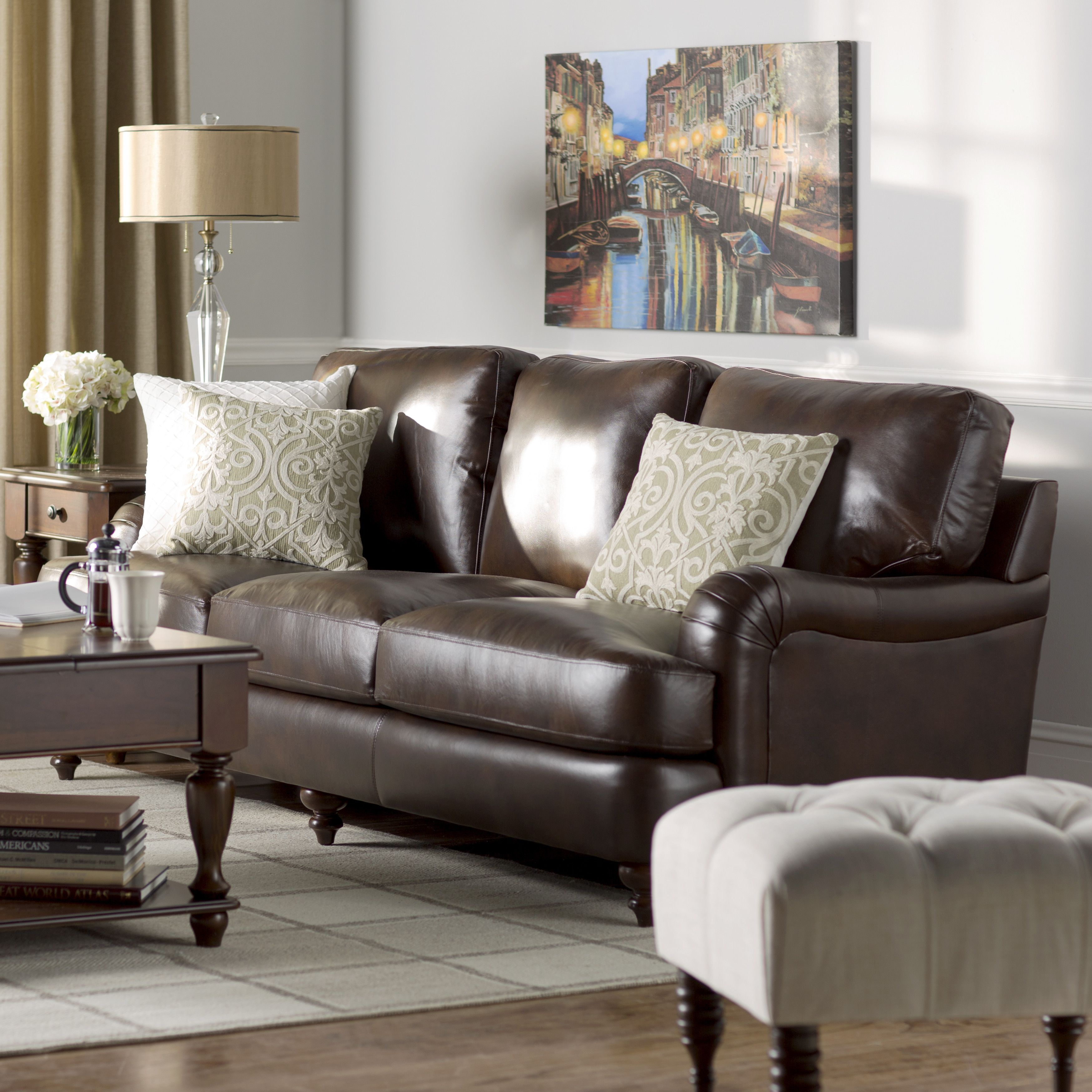 2293 Best Images About Leather Sofas And Living Room: Darby Home Co Charles Leather Sofa