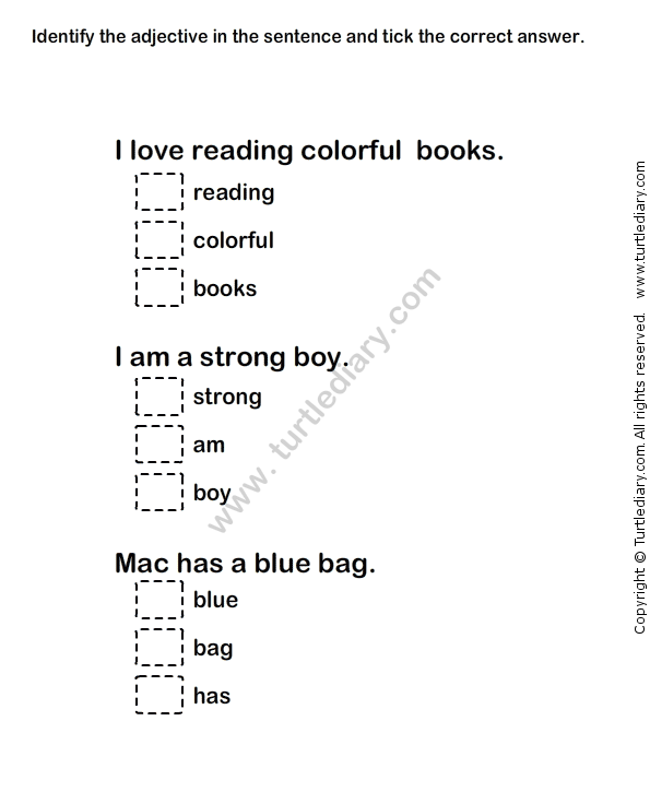 Adjectives Worksheet This Worksheet Contains Clear Information On