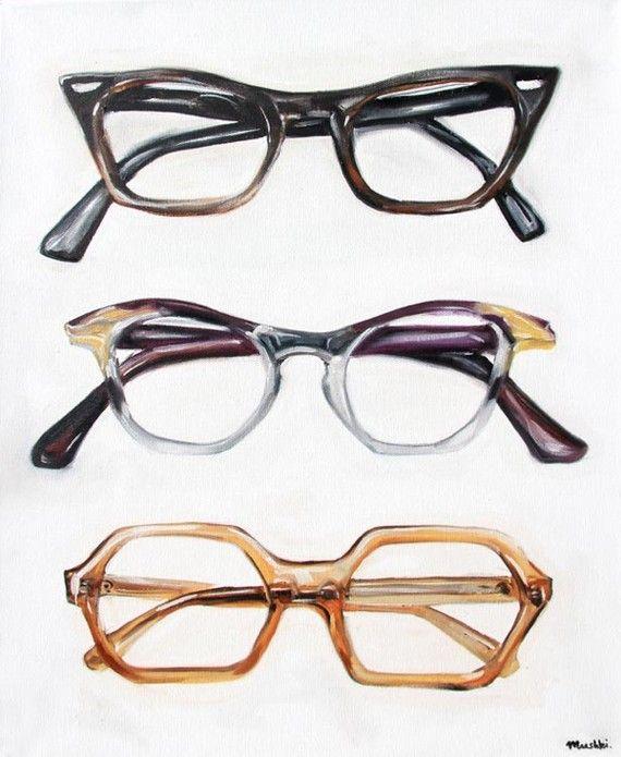 Funky glasses print
