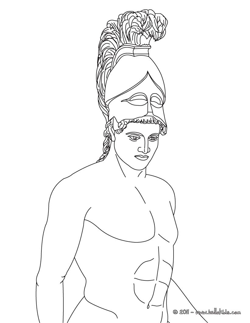 ARES The Greek God Of War Coloring Page You Dont Need Your Crayons Anymore Now Can Color Online This And