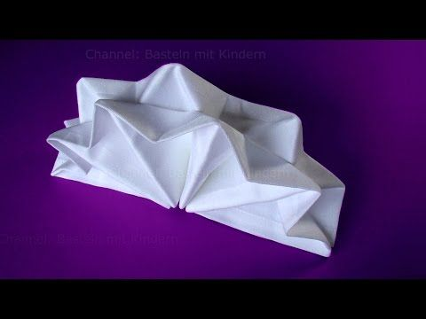 Napkin folding - How to fold napkins: Star - Napkin folding tutorial for christmas - Easy