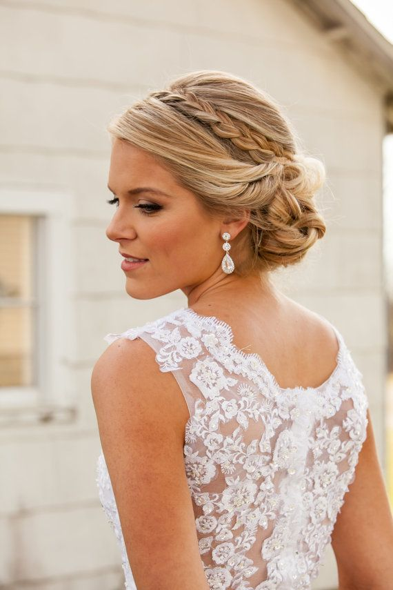 Kristall Braut Ohrringe, Hochzeitsohrringe, lange Braut Ohrringe, Brautjungfern, Hochzeitsschmuck, lange Kristall Ohrstecker #shortbridalhairstyles