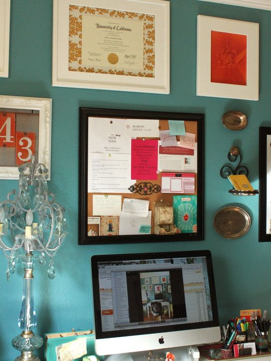 Tasteful Diploma Display In Home Office